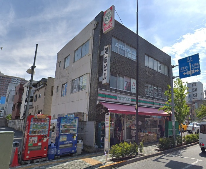 ローソンストア100立川羽衣店(コンビニ)まで49m