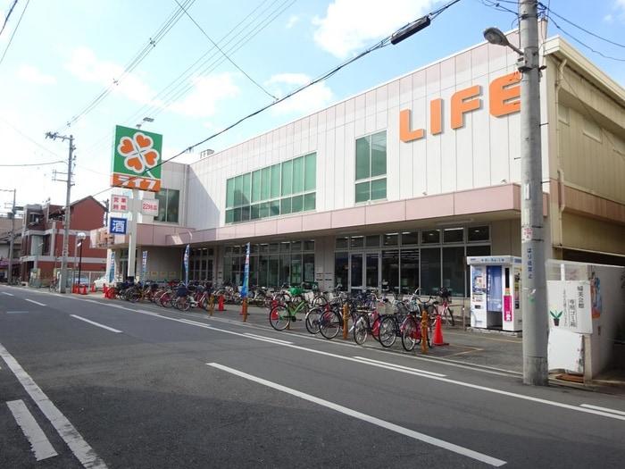 ライフ 新深江店(スーパー)まで422m