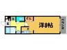 コンシェルジュ京都駅前 1Kの間取り
