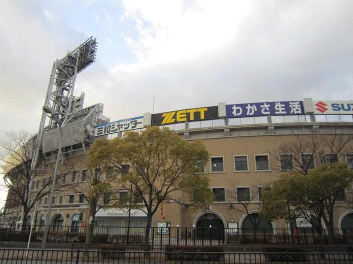 甲子園球場(公園)まで1200m