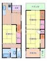大阪メトロ谷町線/野江内代駅 徒歩5分 1階 築51年 4LDKの間取り