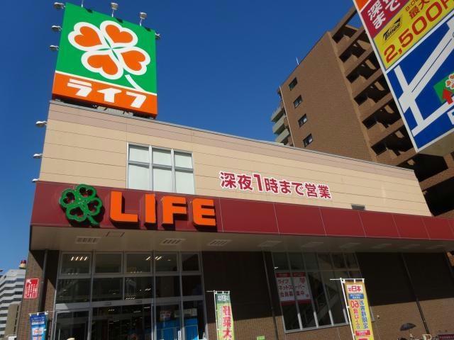 ライフ土佐堀店(スーパー)まで461m
