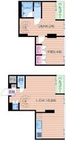 大阪メトロ御堂筋線/なんば駅 徒歩7分 6階 築5年 1LDK+Sの間取り