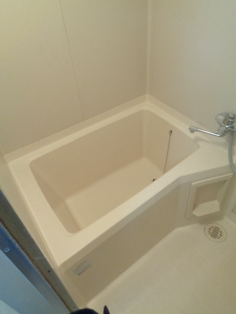 明るい浴室ですね