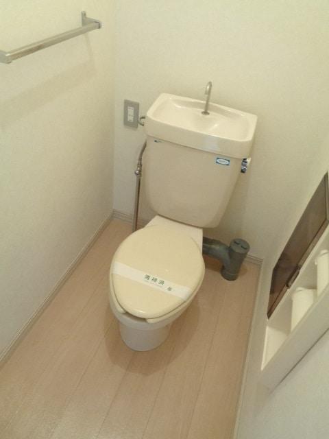 明るいおトイレです