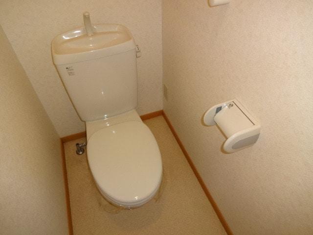 清潔感のある水洗トイレです。