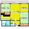 札幌市営地下鉄東豊線/環状通東駅 徒歩11分 4階 築27年 3LDKの間取り