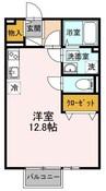 サニーハウス・横井A棟 1Rの間取り