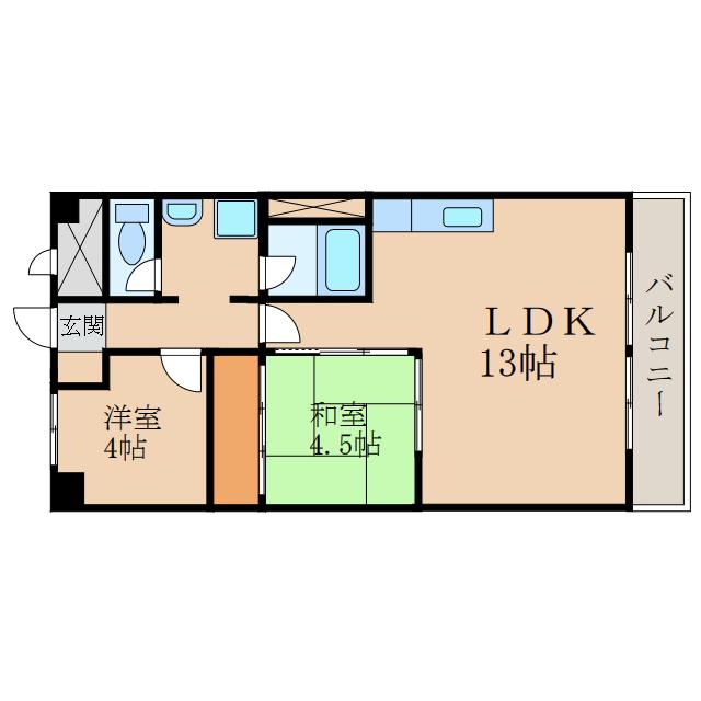 2LDKのお部屋