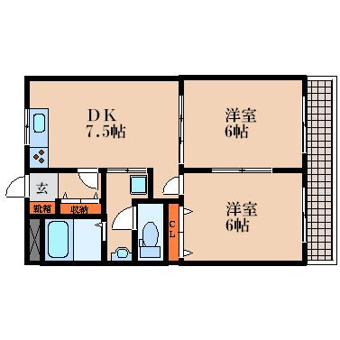 人気の全室洋室です。