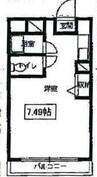 吉原広瀬町マンション 1Kの間取り