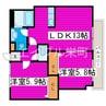札幌市営地下鉄東豊線/栄町駅 徒歩1分 3階 築24年 2LDKの間取り