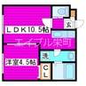 札幌市営地下鉄東豊線/栄町駅 徒歩10分 2階 築16年 1LDKの間取り