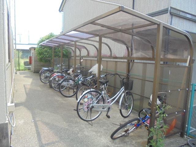 専用駐輪場です