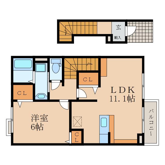 1LDKのお部屋です