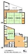 近鉄山田線・鳥羽線・志摩線/宇治山田駅 徒歩8分 2階 築40年 3DKの間取り