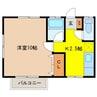 信越本線/長野駅 バス:14分:停歩1分 2階 築25年 1Kの間取り