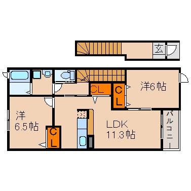 2LDKでゆったりお部屋を利用できます