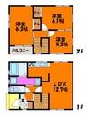 昭和町戸建住宅 A棟 3LDKの間取り