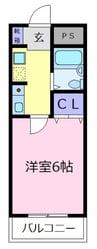 ラ・シャンブル福田1号館 1Kの間取り