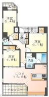 エンブレイス姫路駅前 分譲 3LDKの間取り