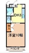 岳南電車/岳南原田駅 徒歩34分 2階 築19年 1DKの間取り
