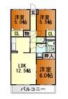 身延線/西富士宮駅 徒歩44分 2階 築16年 3LDKの間取り