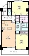 岳南電車/吉原本町駅 徒歩14分 2階 築13年 2LDKの間取り