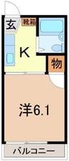 東海道本線/沼津駅 バス:24分:停歩2分 2階 築34年 1Kの間取り