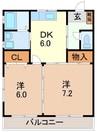 東海道本線/三島駅 バス:15分:停歩5分 1階 築22年 2DKの間取り