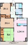 東海道本線/三島駅 バス:15分:停歩4分 5階 築33年 3LDKの間取り