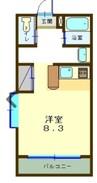 東海道本線/沼津駅 バス:5分:停歩1分 1階 築21年 1Rの間取り