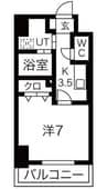 東海道本線/沼津駅 徒歩4分 7階 築浅 1Kの間取り