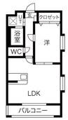 東海道本線/沼津駅 バス:10分:停歩1分 3階 築14年 1LDKの間取り