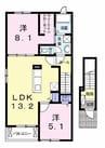 東海道本線/片浜駅 バス:6分:停歩2分 2階 築3年 2LDKの間取り