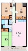 伊豆箱根鉄道駿豆線/三島広小路駅 徒歩19分 4階 築23年 3LDKの間取り