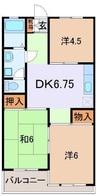 伊豆箱根鉄道駿豆線/三島広小路駅 徒歩15分 3階 築32年 3DKの間取り