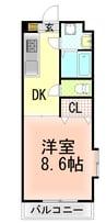 東海道本線/三島駅 バス:20分:停歩8分 3階 築19年 1DKの間取り
