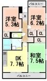 伊豆箱根鉄道駿豆線/伊豆長岡駅 徒歩10分 1階 築12年 3DKの間取り