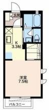 御殿場線(静岡県内)/御殿場駅 バス:10分:停歩2分 2階 築12年 1Kの間取り