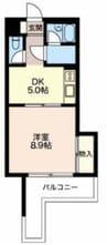 御殿場線(静岡県内)/御殿場駅 徒歩16分 2階 築25年 1DKの間取り