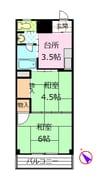 御殿場線(静岡県内)/御殿場駅 徒歩43分 3階 築32年 2Kの間取り