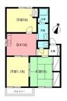 東海道本線(首都圏)/国府津駅 徒歩17分 2階 築21年 3DKの間取り