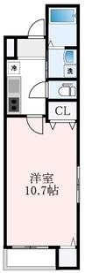 フジパレス住ノ江駅南Ⅶ番館 1Kの間取り