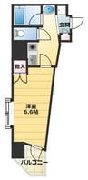 大阪メトロ御堂筋線/大国町駅 徒歩1分 8階 築17年 1Kの間取り