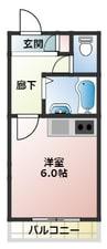 大阪環状線/大正駅 徒歩32分 2階 築30年 1Kの間取り