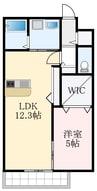 南海高野線/金剛駅 徒歩8分 2階 築3年 1LDKの間取り