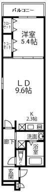 南海高野線/大阪狭山市駅 徒歩10分 2階 1年未満 1LDKの間取り