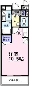 南海高野線/萩原天神駅 徒歩4分 3階 築12年 1Kの間取り