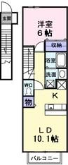 南海高野線/北野田駅 徒歩14分 2階 築15年 1LDKの間取り